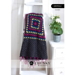 DYP312 Crochet Blanket in DY Choice Chunky with Wool