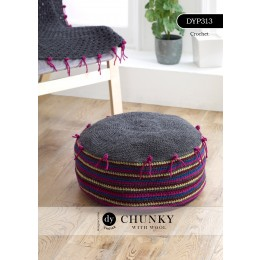 DYP313 Crochet Pouffe in DY Choice Chunky with Wool