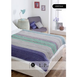 DYP314 Crochet Blanket in DY Choice La Paz