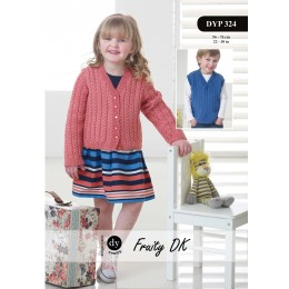 DYP324 Cardigan and Vest for Children in DY Choice Fruity