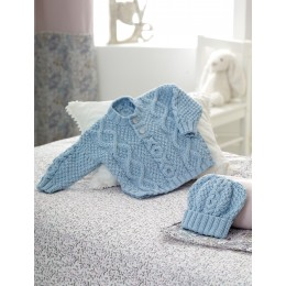 DYP328 Cardigan and Hat for Babies in DY Choice Baby Cloud