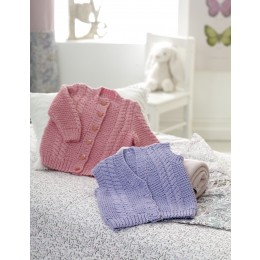 DYP329 Cardigan and Waistcoat for Babies in DY Choice Baby Cloud