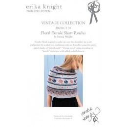 Erika Knight Floral Fairisle Short Poncho