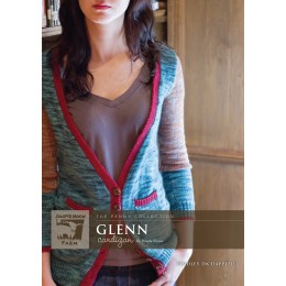 J14-01 Glenn Cardigan for Women in Findley DK Dappled