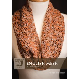 J14-08 English Mesh Scarf in Findley DK Dappled