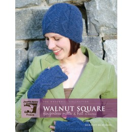 J2-06 Walnut Square Hat and Mittens for Women in Herriot