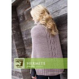 J22-03 Hermite Poncho for Women in Moonshine Chunky