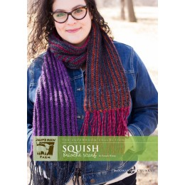 J22-04 Squish Brioche Scarf in Moonshine Chunky