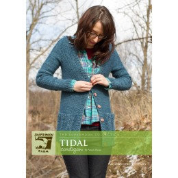 J22-06 Tidal cardigan for Women in Moonshine Chunky