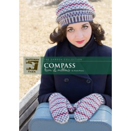 J23-05 Compass Hat and Mittens for Women in Herriot Fine