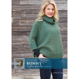 J27-03 Bonny Raglan Poncho for Women in Herriot Great