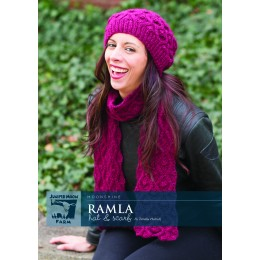 J30-01 Ramla Hat and Scarf for Women in Moonshine