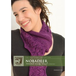 J4-08 Nobadeer Crescent Scarf for Women in Findley DK
