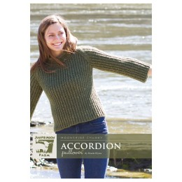 J42-02 Accordian Pullover for Women in Moonshine Chunky