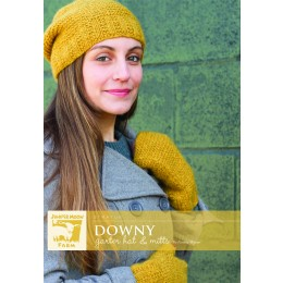 J43-01 Downy Hat and Mittens for Women in Stratus