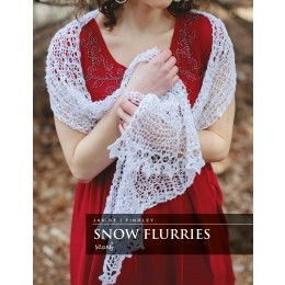 J46-03 Crochet Snow Flurries Scarf for Women in Findley
