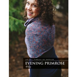 J46-04 Crochet Evening Primrose Shrug for Women in Findly DK Dappled