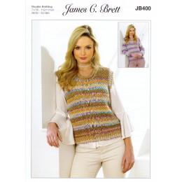 JB400 Vest and Jumper for Women in James C Brett Harmony DK