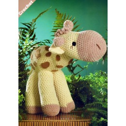 JB401 Crochet Giraffe in James C Brett Flutterby