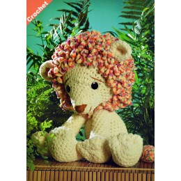 JB402 Crochet Lion in James C Brett Flutterby