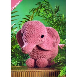 JB403 Crochet Elephant in James C Brett Flutterby