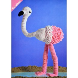 JB404 Crochet Flamingo in James C Brett Flutterby