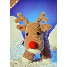JB405 Crochet Reindeer in James C Brett Flutterby