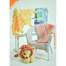 JB408 Crochet Blankets in Baby Marble
