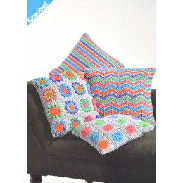 JB409 Crochet Cushions in James C Brett Noodles
