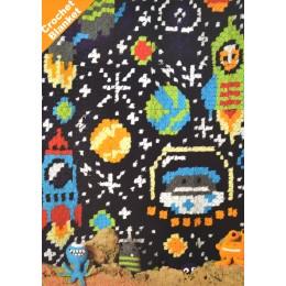 JB412 Crochet Space Blanket in DK
