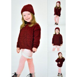 JB420 Jumper and Hat for Children in Twisted