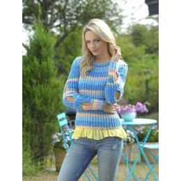 JB463 Ladies Sweater in James C Brett Harmony DK
