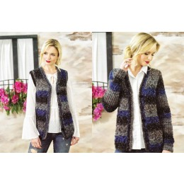 JB468 Woman's Cardigan & Waistcoat in James C Brett Tuscany Chunky
