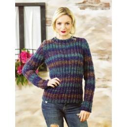 JB469 Ladies Sweater in James C Brett Tuscany Chunky