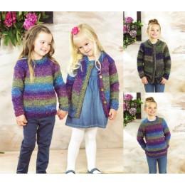 JB471 Girl's Sweater & Cardigan in James C Brett Tuscany Chunky