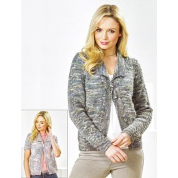 JB473 Women's Long & Short Sleeve Cardigans in James C Brett Stonewash DK
