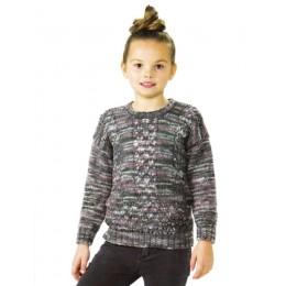 JB476 Girl's Sweater in James C Brett Stonewash DK