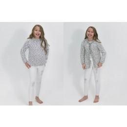 JB492 Girl's Cardigan & Sweater in James C Brett Tranquil Chunky
