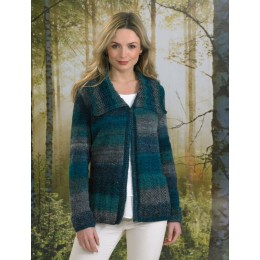 JB494 Ladies Jacket in James C Brett Landscape DK