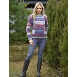 JB497 Ladies Sweater in James C Brett Marble Chunky