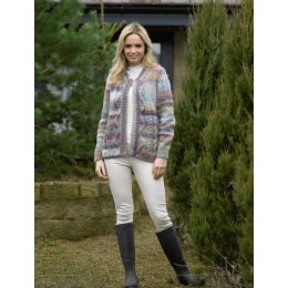 JB498 Woman's Jacket in James C Brett Marble Chunky