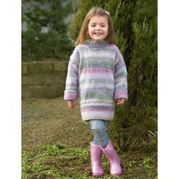 JB499 Girl's Sweater in James C Brett Marble Chunky