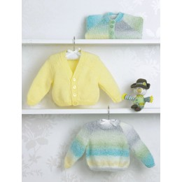 JB503 Baby's Sweater & Cardigans in James C Brett Baby Marble DK