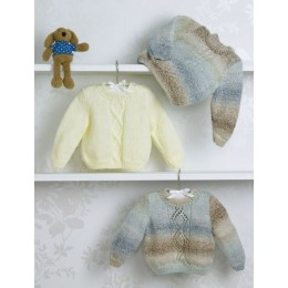 JB506 Sweaters for Babies in James C Brett Baby Marble DK