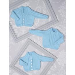 JB507 Cardigans & Sweater for Babies in James C Brett Innocence DK