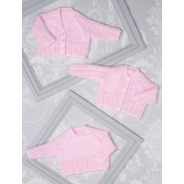 JB509 Baby's Cardigans & Sweater in James C Brett Innocence DK