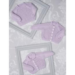 JB510 Cardigans & Sweater for Babies in James C Brett Innocence DK
