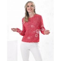 JB535 Ladies Sweater in James C Brett Bubbalicious DK