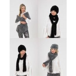 JB540 Ladies Wrap, Hats & Scarves in James C Brett Chinchilla Chunky