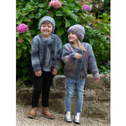 JB549 Boy's & Girl's Cardigan & Hat in James C Brett Mega Multi Chunky